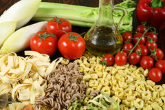 Pasta and vegetables. Stock Image