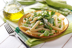 Pasta with vegetables Royalty Free Stock Images