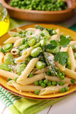Pasta with vegetables Stock Photos