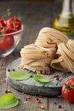 Italian pasta. Dry pasta background royalty free stock image