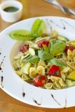 Pasta with vegetables and pesto Royalty Free Stock Image