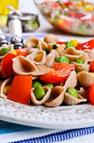 Pasta with vegetables Stock Images