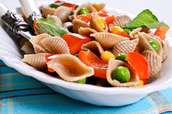 Pasta with vegetables Royalty Free Stock Image