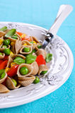 Pasta with vegetables Stock Image