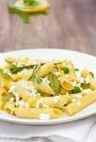 Pasta vegetariana deliziosa Fotografia Stock