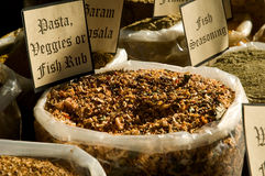Pasta, veggie and fish rub Stock Photography