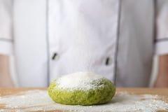Pasta verde de la espinaca imagen de archivo