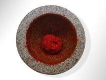 Pasta vermelha tailandesa dos pimentões Fotografia de Stock Royalty Free