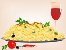 Pasta, vettore Royalty Illustrazione gratis