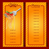 Pasta vintage frame Royalty Free Stock Photos