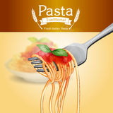Pasta vintage traditional banner menu Stock Photo