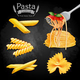 Pasta vintage traditional Stock Image