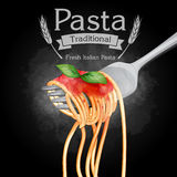 Pasta Vintage Traditional Black Royalty Free Stock Image