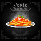 Pasta vintage traditional black penne Royalty Free Stock Photos