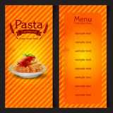 Pasta vintage traditional frame spaghetti Stock Images