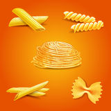 Pasta vintage traditional icons Stock Image