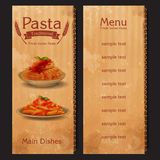 Pasta vintage traditional vintage frame Royalty Free Stock Photography