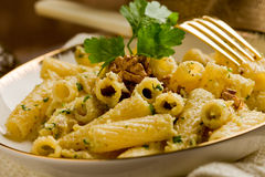 Pasta with Walnut pesto Stock Images