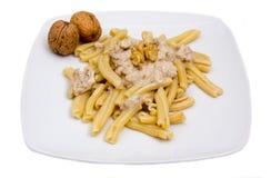 Pasta with walnut pesto Stock Image