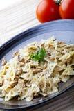 Pasta in Walnut Sauce Royalty Free Stock Image