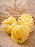 Pasta and wheat ears Royalty Free Stock Photo