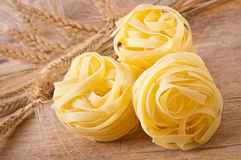 Pasta and wheat ears Royalty Free Stock Photos