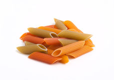 Pasta on white background Stock Images