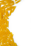 Pasta on a white background. Some pasta on a white background isolated Royalty Free Stock Photo