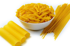 Pasta on a white background. Some pasta on a white background isolated Stock Photography