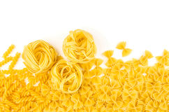 Pasta on a white background Royalty Free Stock Photo