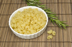 Pasta in a white bowl Royalty Free Stock Images