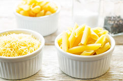 Pasta in a white bowl Stock Photography