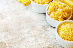Pasta in a white bowl Stock Images