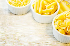 Pasta in a white bowl Royalty Free Stock Photography
