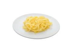 Pasta on white dish Stock Photo
