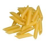 Pasta on white Royalty Free Stock Image