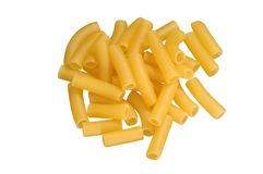 Pasta on white Stock Photos