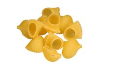 Pasta on white. Uncooked pasta isolated on white Stock Photo