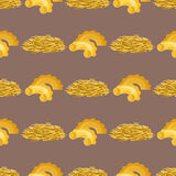 Pasta whole wheat seamless pattern corn rice noodles organic food macaroni background nutrition dinner products vector Royalty Free Stock Image