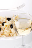 Pasta and wine Royalty Free Stock Photos