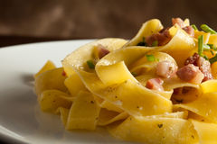 Pasta With Bacon Royalty Free Stock Photo