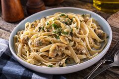 Free Pasta With Clam Sauce Stock Photography - 199774172