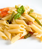 Pasta With Ham And French Beans Stock Photography