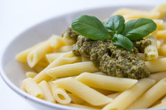 Free Pasta With Pesto In A Plate Royalty Free Stock Photo - 40108835