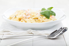 Pasta With Salmon Royalty Free Stock Photo