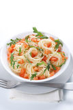 Pasta With Tomato And Rucola Stock Images