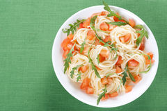 Pasta With Tomato And Rucola Royalty Free Stock Images
