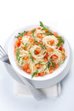 Pasta With Tomato And Rucola Stock Image