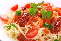 Pasta With Tomato Sauce Stock Images
