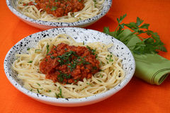 Free Pasta With Tomato Sauce Stock Images - 7935974